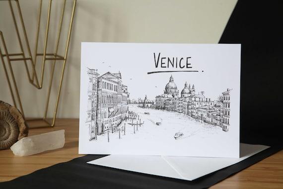Venice Skyline Greetings Card