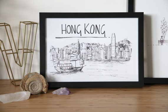Hong Kong Skyline Print Art