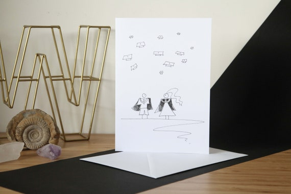 Graduation Cartoon Art Greetings Card