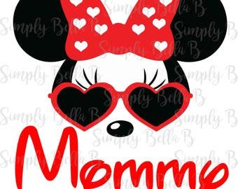 Minnie Sunglasses Mommy INSTANT DOWNLOAD Printable Digital Iron-On Transfer Design - DIY