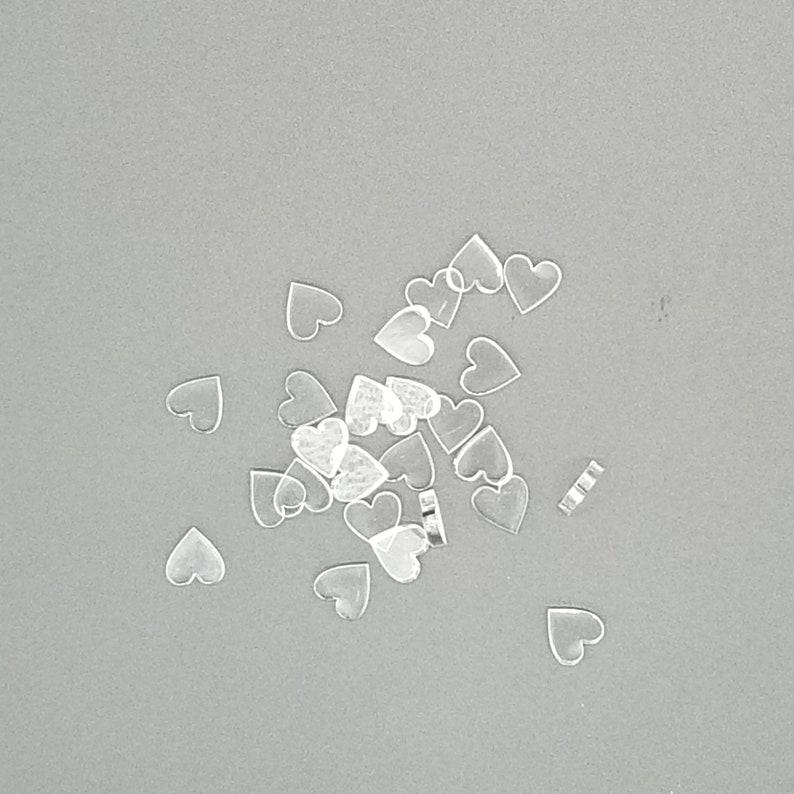 Laser Cut Acrylic Charm 30 Mini Clear Acrylic Hearts Table Confetti Flatback DIY Craft Supplies for Scrapbooking Wedding Table Decor