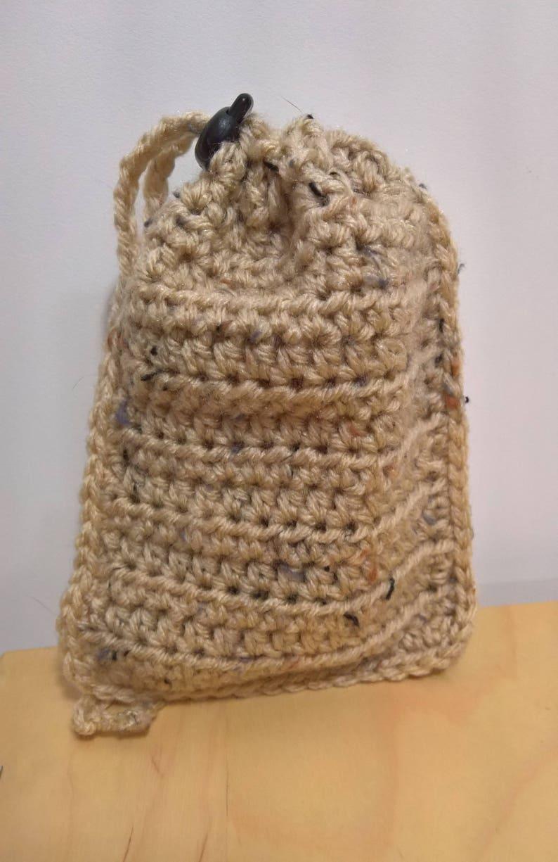 Gift Idea for Boyfriend Dice Holder Small Dice Bag Crochet Bag Drawstring Bag Mothers Day Gift RPG Accessory Gamer Gift for Husband
