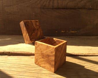 Primitive small wooden box