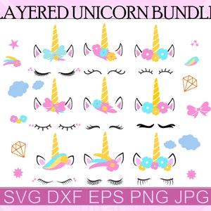 Clipart Unicorn face Cricut svg DXF EPS FlexyCreatives  #vc-31 Cut File pdf Vector Unicorn png Unicorn head  Clip Art Unicorn SVG