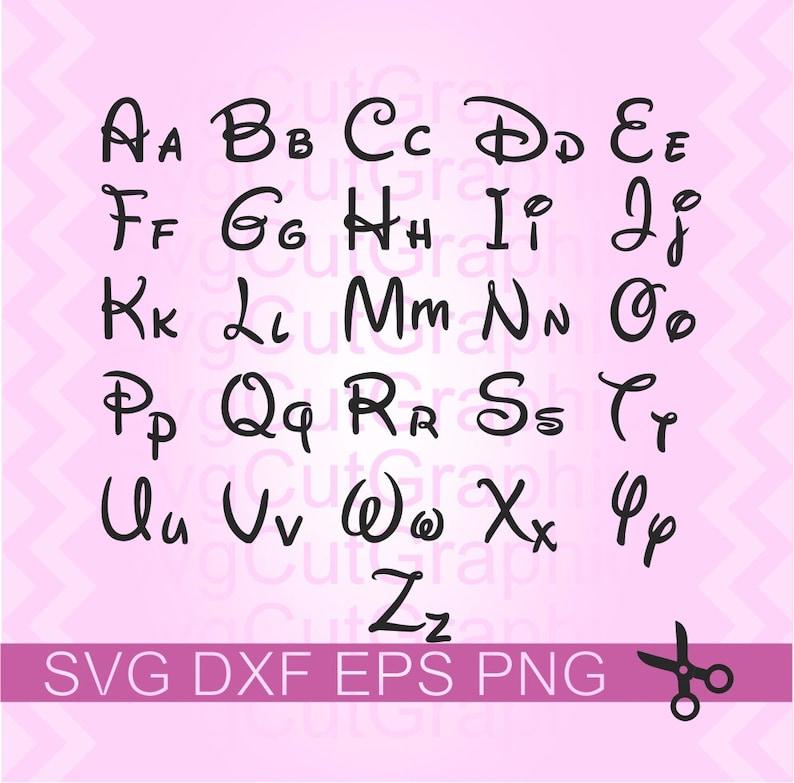 Disney Font Svg Disney Numbers Svg Disney Svg Cut File Disney Etsy