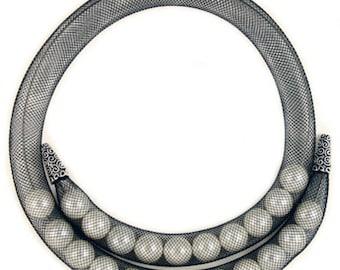 10mm Silver Mesh Tube #CGN007
