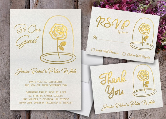 Beauty And The Beast Themed Wedding Invitations: Beauty And The Beast Wedding Invitations Beauty And The