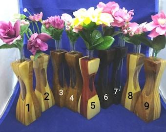 Beautiful Handmade Wooden Bud Vases