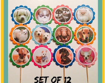 Puppies Birthday Banner Party Dogs