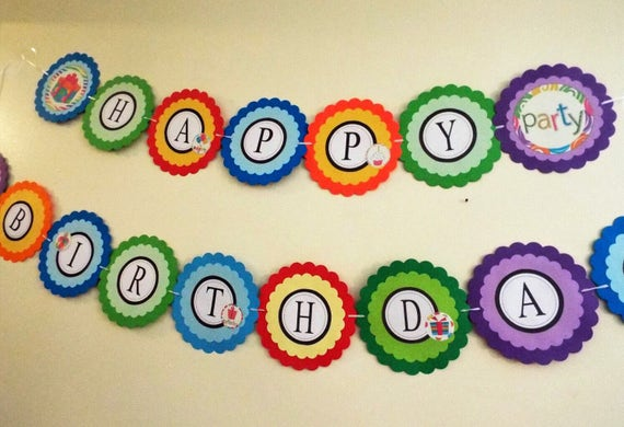 birthday banners happy birthday banner custom birthday etsy