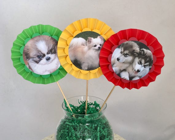 Puppies Party Centerpieces Dogs Birthday Decorations