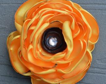 Sunflower Hair Accessory, Sunflower Hair Clip