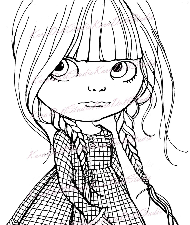 Chica Digital sellos Blythe Dolls pintado infantil sellos para ...