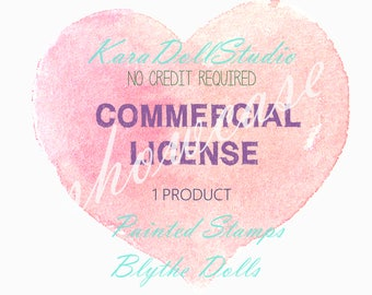 Commercial License, One Product Painted Stamps Blythe Dolls, Digi Stamps Digital Stamps