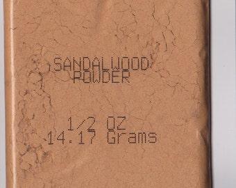 SANDALWOOD POWDER - 1/2 Oz, USA Seller Free Shipping