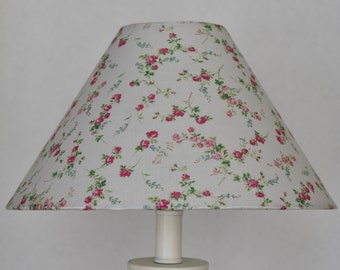 Floral lampshade etsy shabby chic floral lamp shade kids room pink lamp shade nursery lampshade floral nursery decor table lamp shabby home decor lamp aloadofball Image collections