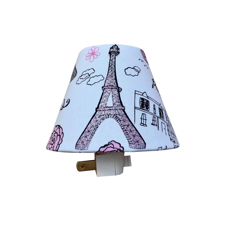Eiffel Tower Paris Night Light Kids Room Pink Glitter Girls Room Nursery Night  Light Baby Girl Girls Bedroom  Wall Decor Baby Shower