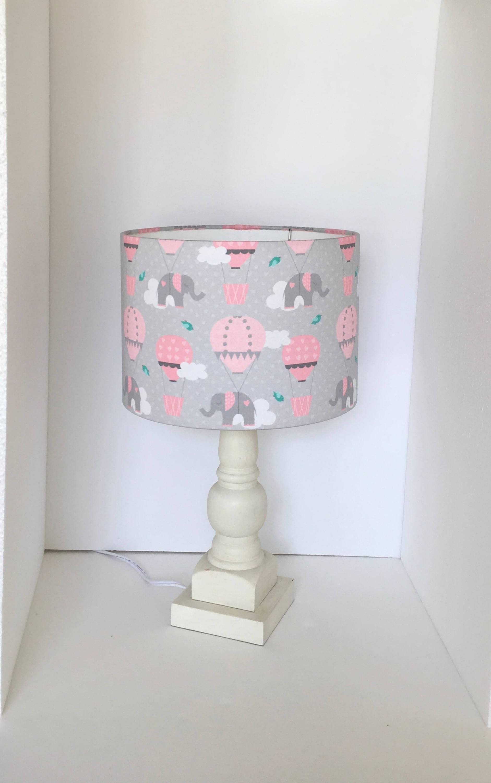 Pink grey drum lamp shade nursery lampshade baby girl room wall gallery photo gallery photo aloadofball Gallery