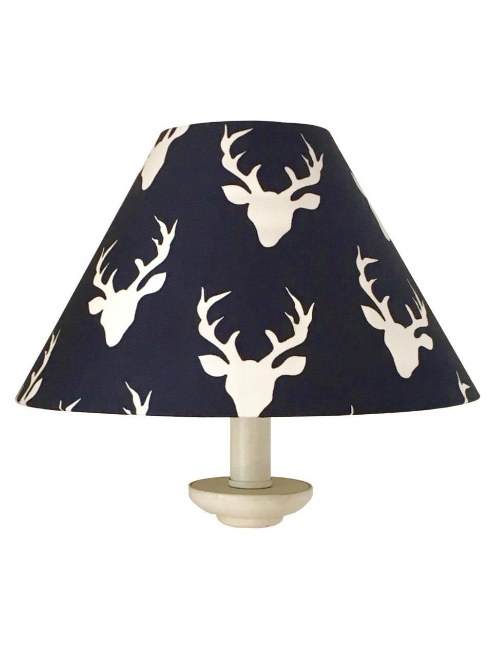 Woodland Deer Lamp Shade Boy Nursery Lamp Navy Lampshade Nursery