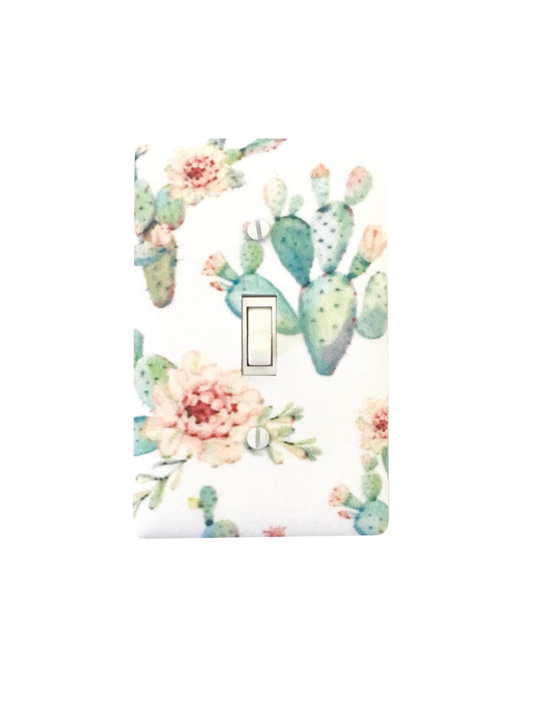 Cactus Light Switch Plate Cover Girls Room Bathroom Decor Etsy