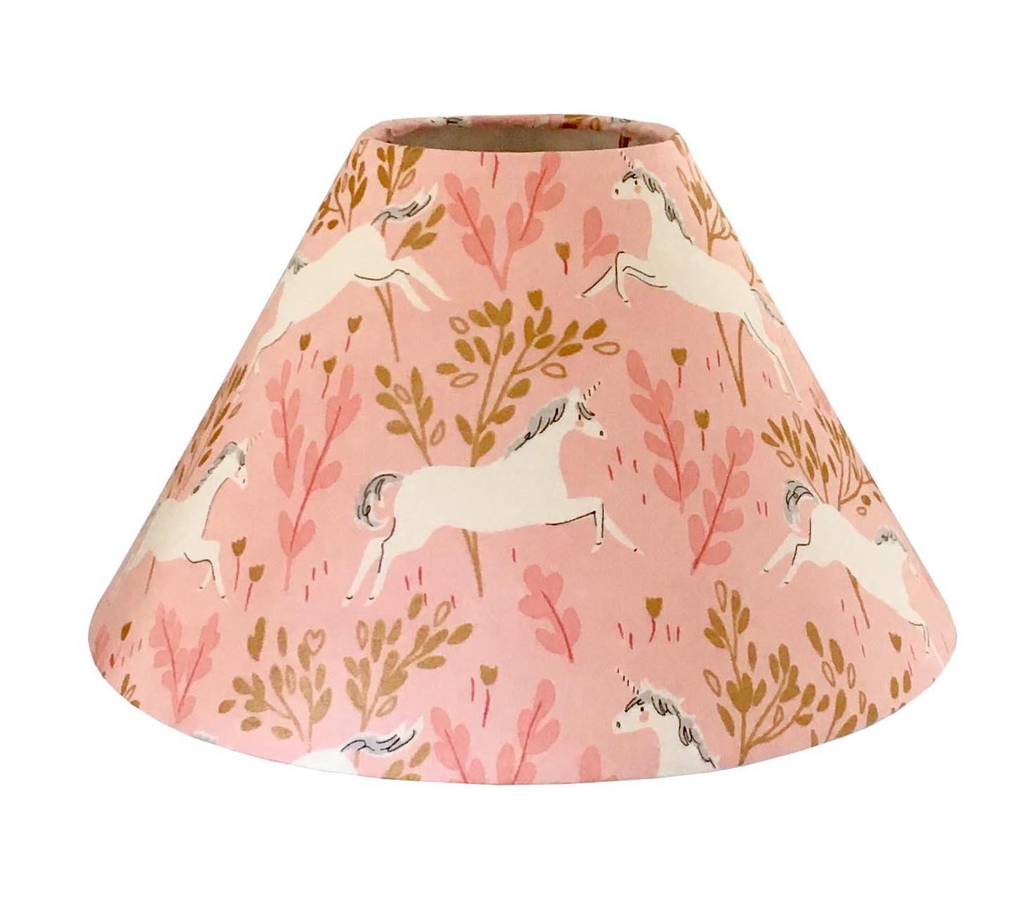 Magic Unicorn Lampshade Metallic Forest Blossom Night Light Girl - Lamp shade for bathroom