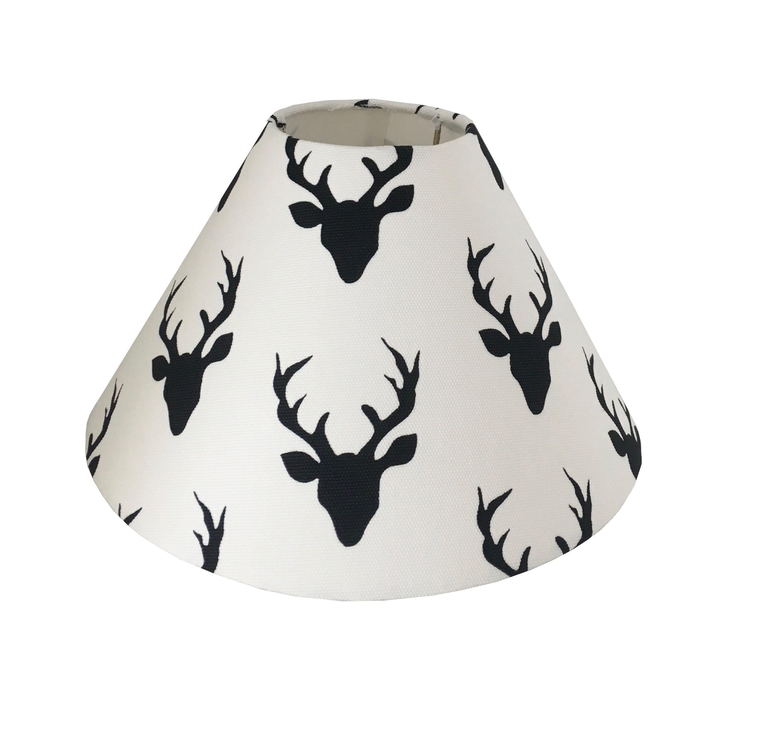Room Lampshade Black Deer White Lamp Kids Shade Woodland SVGLpqjMzU