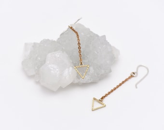 The Triangle Drop Earrings