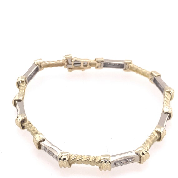 Two Tone Diamond Bracelet