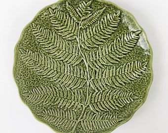1970's Olfaire Fern Serving Plate
