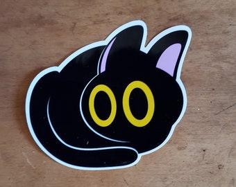 Spooky Loaf Black Cat Sticker