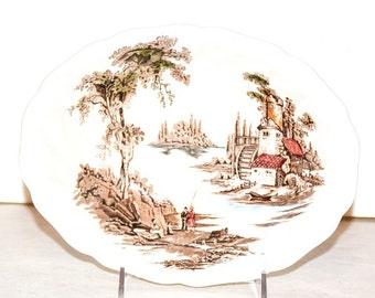Vintage Johnson Bros. The Old Mill Bowl - Replacement Bowl