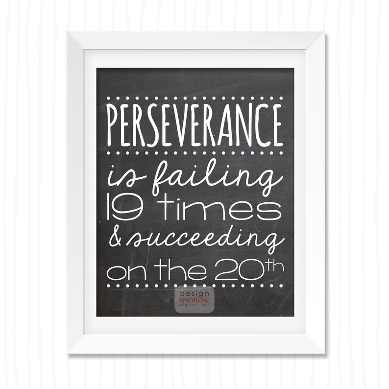 Perseverance Definition 8x10 Printable Perseverance Quotes Etsy