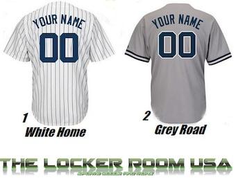 6db87e88c13 Men s MLB Custom Replica New York Yankees Home or Road Jersey