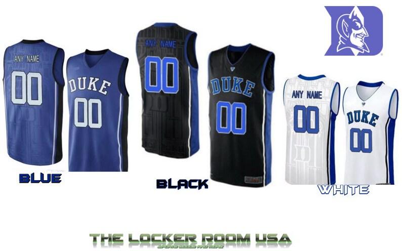 929a9b4fd Men Custom Replica Duke BLUE DEVILS Blue Black or White