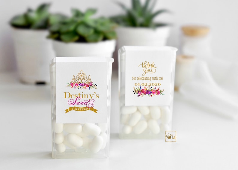 Sweet 16 Mints Labels Sweet 16 Labels
