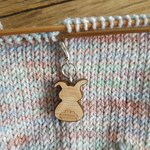 Bunny wooden progress keeper - knitting notions - crochet notions