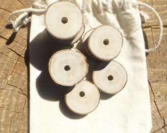 Natural Wooden Beads - Silver Gum