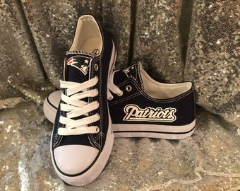 New England Patriots Womans Custom Shoes