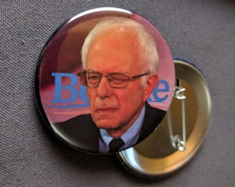 THREE Bernie Sanders Side Eye Pinback Buttons