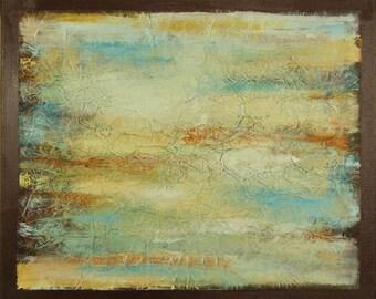 "Original Acrylic, Mixed Media Abstract Home Decor Wall Art Painting, ""Reflect"", 20""x24"""