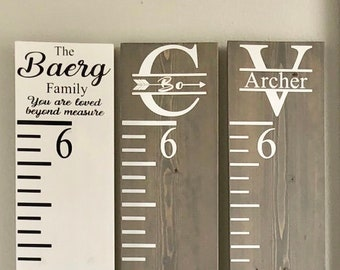 Wooden Custom Growth Chart Ruler | Personalized Growth Chart | Giant Ruler | Baby Shower Gift, Kids Birthday Gift, Kids Room Decor, Keepsake