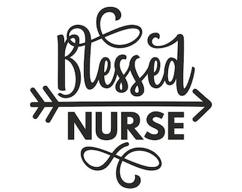 nurse svg etsy ER Nurse blessed nurse svg nurse svg nurse life svg blessed svg stethoscope svg cutting files for use with silhouette cameo scanncut cricut