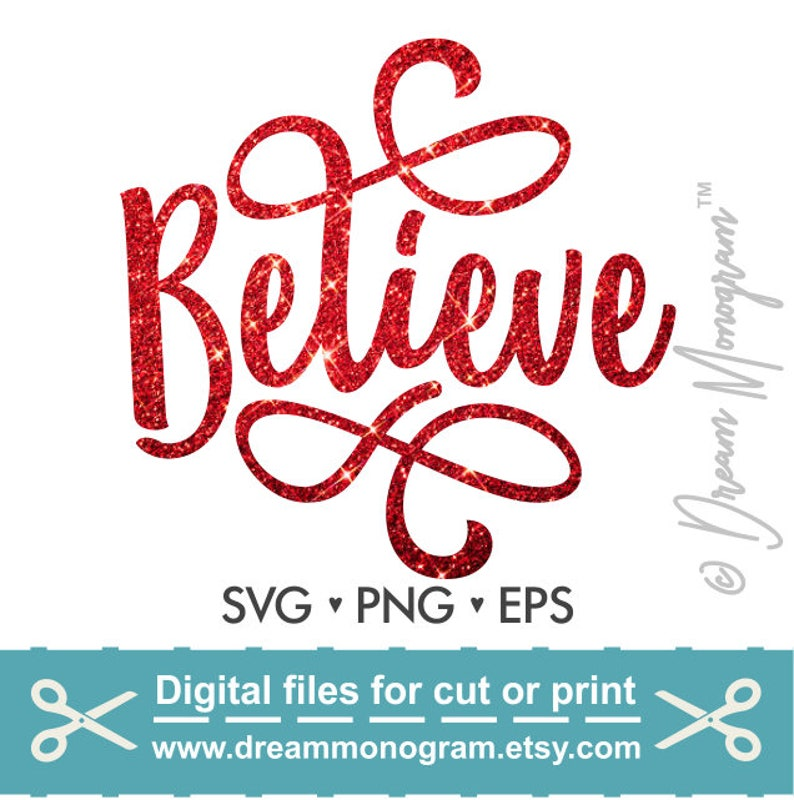 Believe Svg/ Christmas Svg / Holiday Svg / Winter Svg / Santa image 0