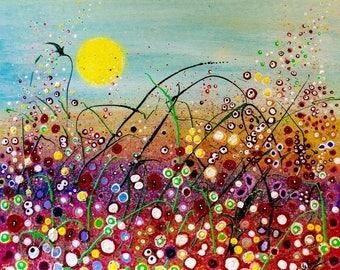 Poppy Dots Giclée Print