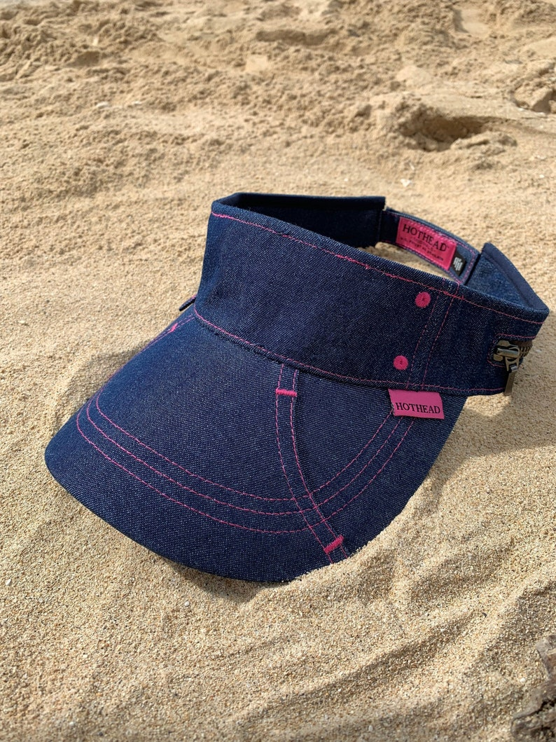 Hothead Blue Denim Custom Visor Visor Sun Visor Womens  25a4f0f34a74