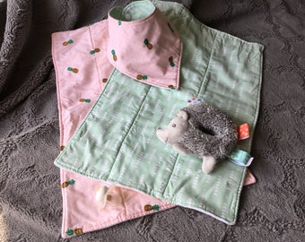 Summer Burp Cloth & Bib Set