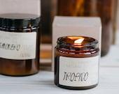 Amber glass jar natural c...