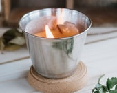 Steel candle, scented can...