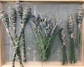 Lavender wands, woven lav...
