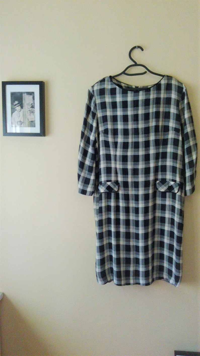 Dress Office Wear//Vintage 80//white and